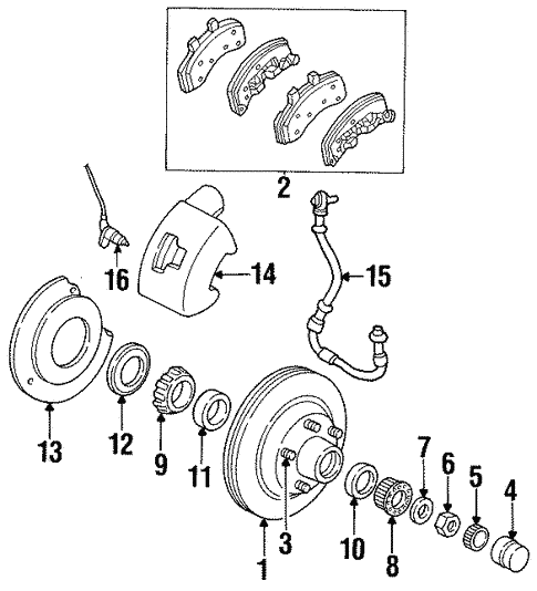 Front Brakes For 1997 Dodge Ram 1500