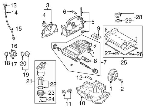 Engine Parts For 2004 Volkswagen Touareg