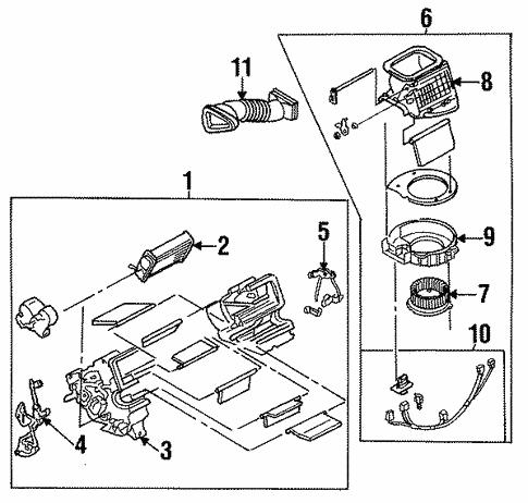 Genuine Oem Heater Parts For 1994 Mazda Miata M Edition
