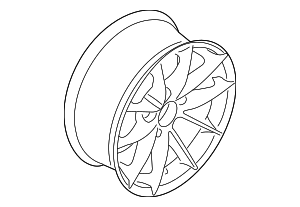Wheel, Alloy - BMW (36-11-6-775-609)