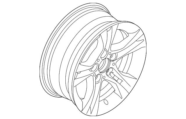 2008 2012 Bmw Wheel Alloy 36 11 6 780 907