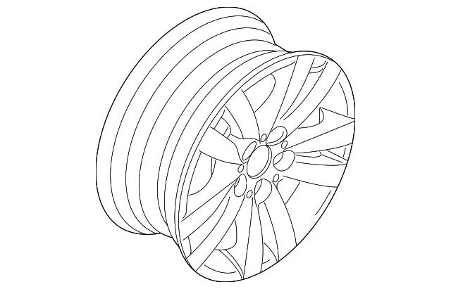 2007 2013 Bmw Wheel Alloy 36 11 6 768 859
