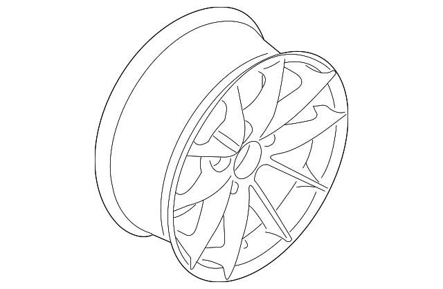 2010 2012 Bmw Wheel Alloy 36 11 6 793 675