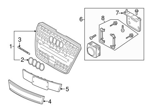 grille  u0026 components for 2007 audi q7