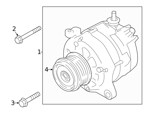 2019 Subaru Forester Alternator 23700ab050