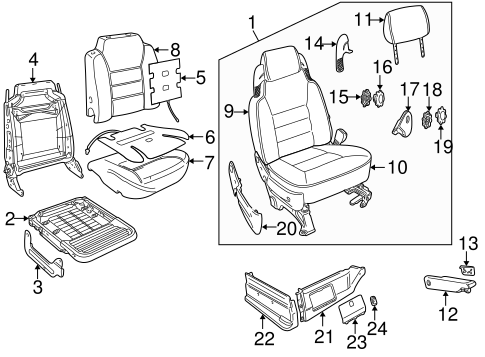 Front Seat Components For 2000 Land Rover Discovery
