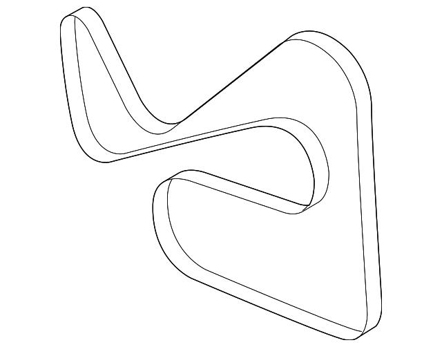 2005 2008 Ford Serpentine Belt 5l8z 8620 A