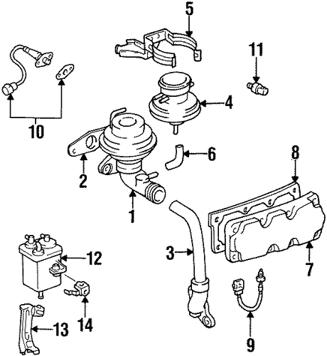 EMISSION SYSTEM/EMISSION COMPONENTS for 1996 Toyota Supra #1