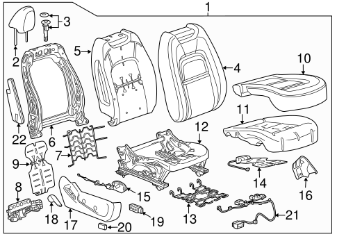 Passenger Seat Components For 2018 Chevrolet Colorado