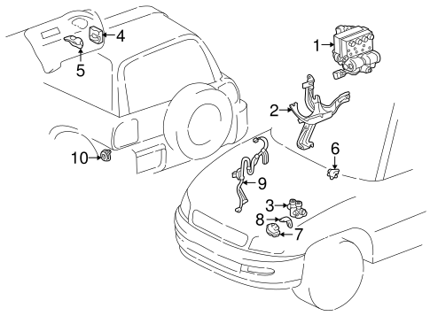 Abs Components For 1997 Toyota Rav4