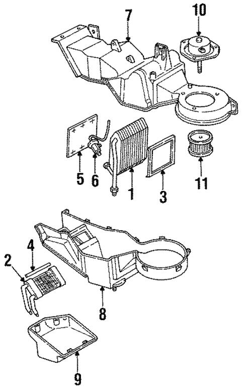 Oem 1999 Chevrolet Suburban C1500 Auxiliary Heater Ac Parts