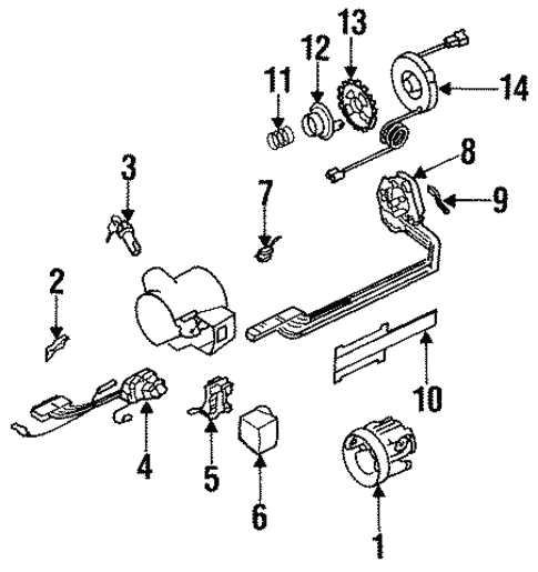 Housing & Components for 1996 Buick Commercial Chassis #0