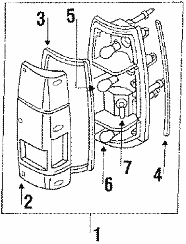 Tail Lamp Assembly - Isuzu (8942188425)