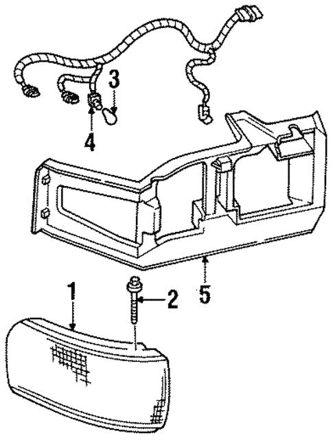 Corner Side Marker Lamps For 1996 Cadillac Deville
