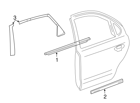 Body/Exterior Trim - Rear Door for 2007 Ford Five Hundred #1