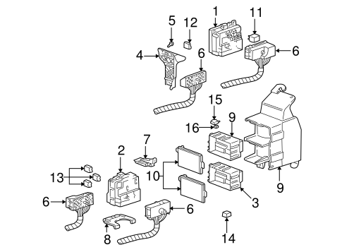 Fuse & Relay for 2004 Chevrolet Impala (LS) | GMPartsNow A Diagram Of Fuses Chevy Clic on