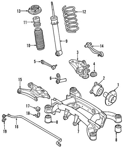 rear suspension for 2007 bmw x5 2007 bmw x5 engine diagram #6
