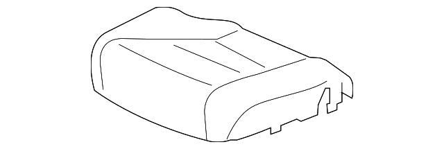 Front Honda Genuine 81531-S5A-A22ZA Seat Cushion Trim Cover Left