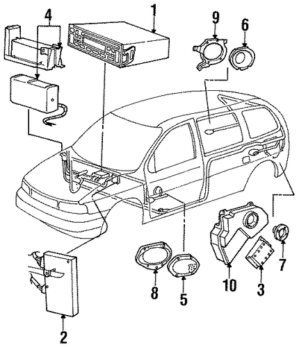 sound system for 1998 ford windstar