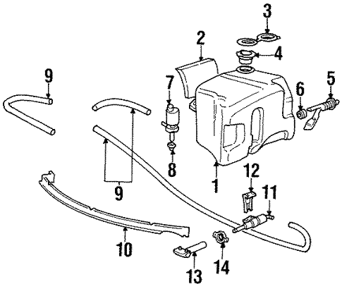 Washer Components For 1996 Bmw M3