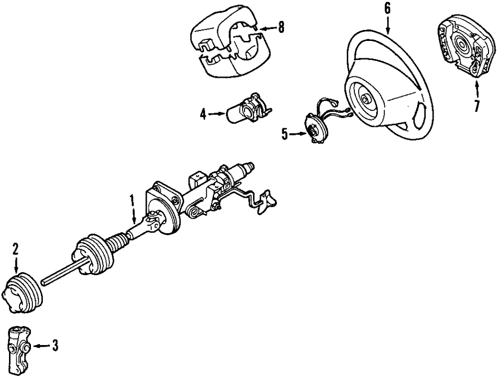 Genuine Mercedes Benz Steering Column 163 460 05 16