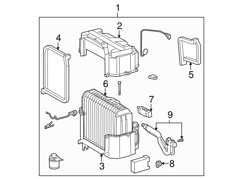 HVAC/EVAPORATOR COMPONENTS for 1996 Toyota Tacoma #1