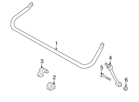 stabilizer bar  u0026 components for 1999 jeep wrangler