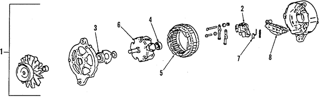 Alternator - Mitsubishi (M141855D)
