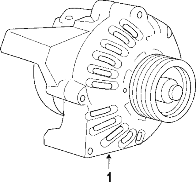 2006 2007 saab 9 7x alternator 22781131 oeuroparts 2007 Saab 9-7X alternator saab 22781131
