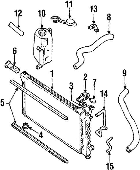 oem 2000 mercury villager radiator  u0026 components parts