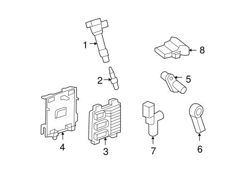 Oem 2012 Gmc Acadia Powertrain Control Parts
