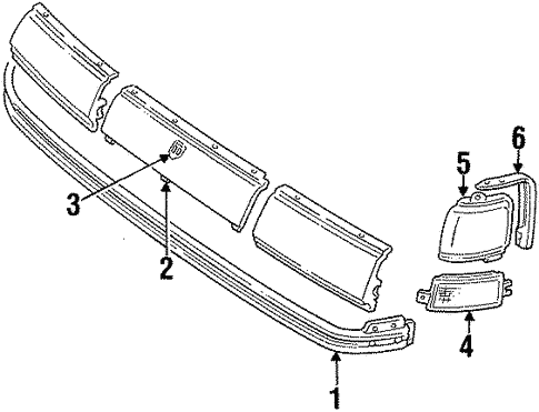 Oem 1990 Oldsmobile Toronado Grille Components Parts