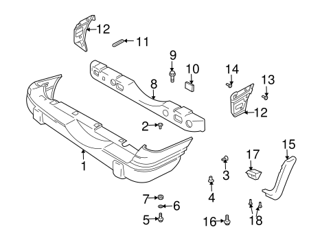 gmc acadia base with Gm Side Bracket 30027045 on 222258208263 together with Gm Sill Plate 15888229 moreover  further Hummer Oem Parts Catalog together with Gm License Pocket Stud 25651470.