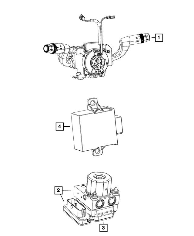 Genuine Mopar ABS Sensor 4727624AA