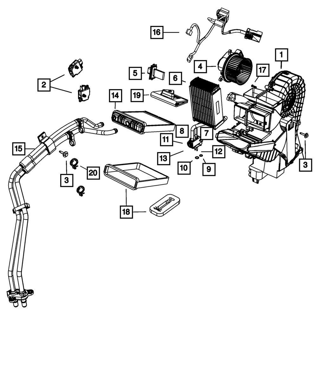 OEM NEW Mopar 12-14 Dodge Chrysler Ram Air Conditioning Evaporator  68427763AA | eBayeBay