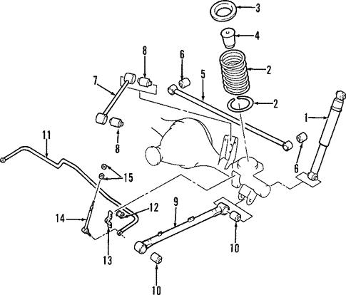 Rear Suspension For 2002 Infiniti Qx4