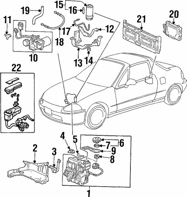 1994 1997 Honda Label Accumulator Caution 57073 Sr3 013