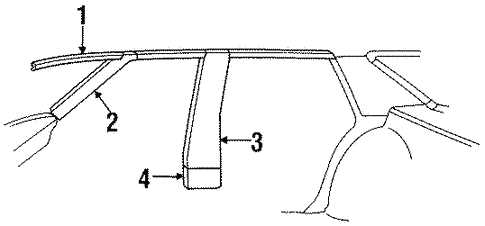 Body/Interior Trim - Pillars for 1988 Buick LeSabre #1
