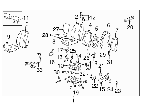 Front Seat Components for 2007 Chevrolet Tahoe #2