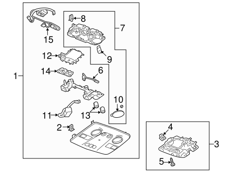 Oem 2013 Chevrolet Traverse Overhead Console Parts