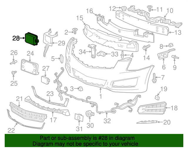 [SCHEMATICS_48IS]  Cruise Control Distance Sensor - GM (84511061) | GMPartsDirect.com | Cadillac Cruise Control Diagram |  | GM Parts Direct
