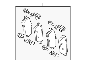 Brake Pads - Mercedes-Benz (008-420-08-20)