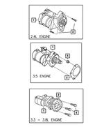 Genuine Chrysler 4801257AA Electrical Starter