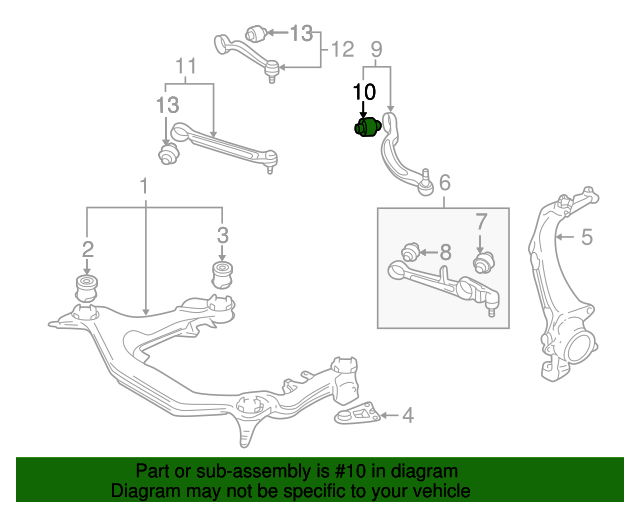 rear lower control arm bushing - volkswagen (4d0-407-183-ac)