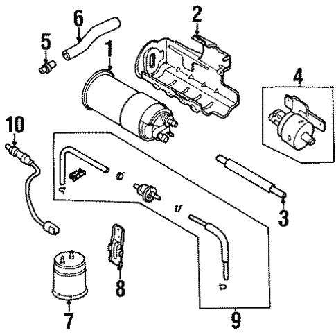 Emission Components For 2001 Kia Sephia
