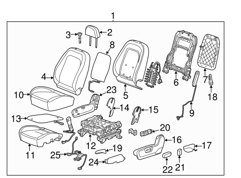 Oem 2012 Chevrolet Captiva Sport Driver Seat Components Parts