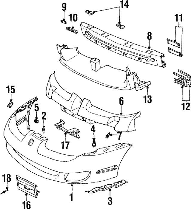 license bracket support gm 21110753 newautoparts Saturn SL1 EGR Valve license bracket support