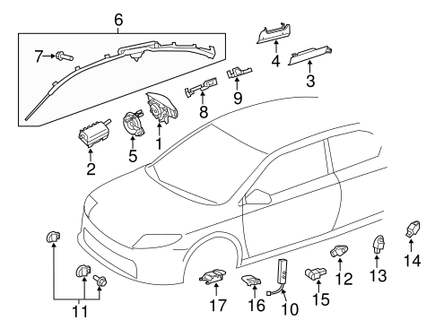 ELECTRICAL/AIR BAG COMPONENTS for 2014 Scion tC #1
