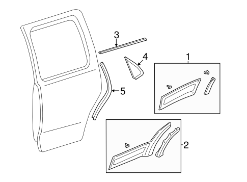 Body/Exterior Trim - Rear Door for 2001 Ford Escape #1