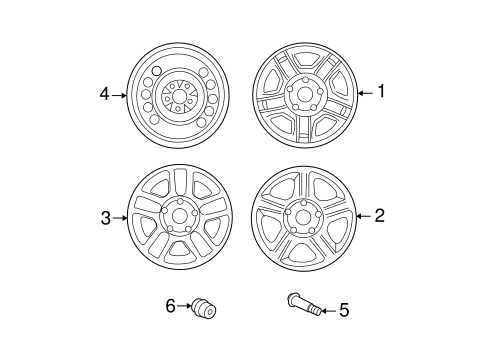 Front Suspension/Wheels for 2006 Ford Escape #1